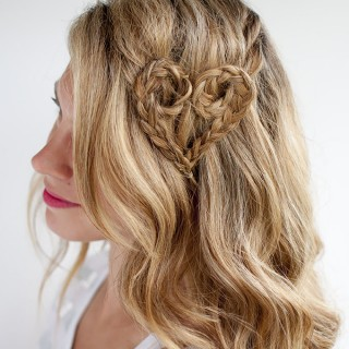 Hair Romance - Valentine's Day hair - heart braid
