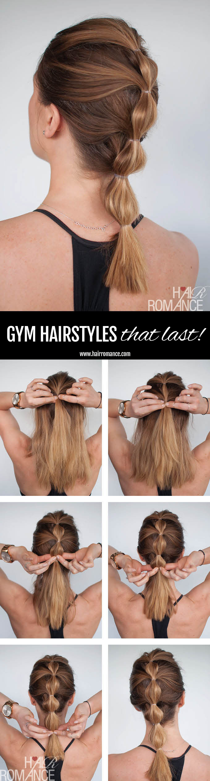 Cute Gym Hairstyles For Long Hair : How to look good while you workout long lasting