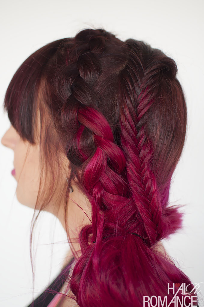 Hair Romance - pink hair and braids