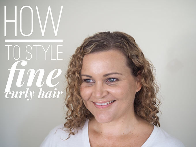 Here are my top tips for how to style fine, curly hair: