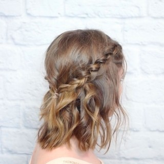 Short hair hairstyles - braided half up