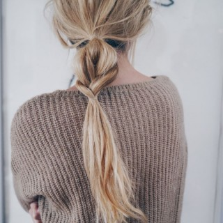 Braid ponytail