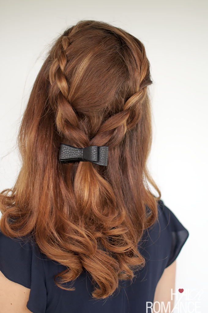 Hair Romance - Braid tutorial half up with a bow