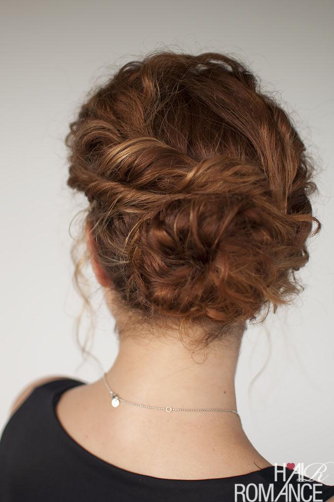 Curly hair tutorial - Easy twisted bun hairstyle - Hair ...