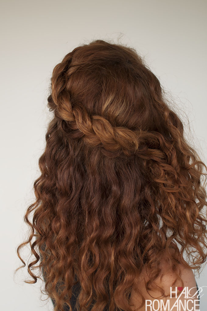 Curly hair tutorial  the halfup braid hairstyle  Hair