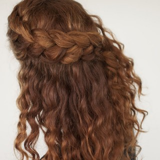 Hair Romance - Curly hair tutorial - half up braid hairstyle tutorial
