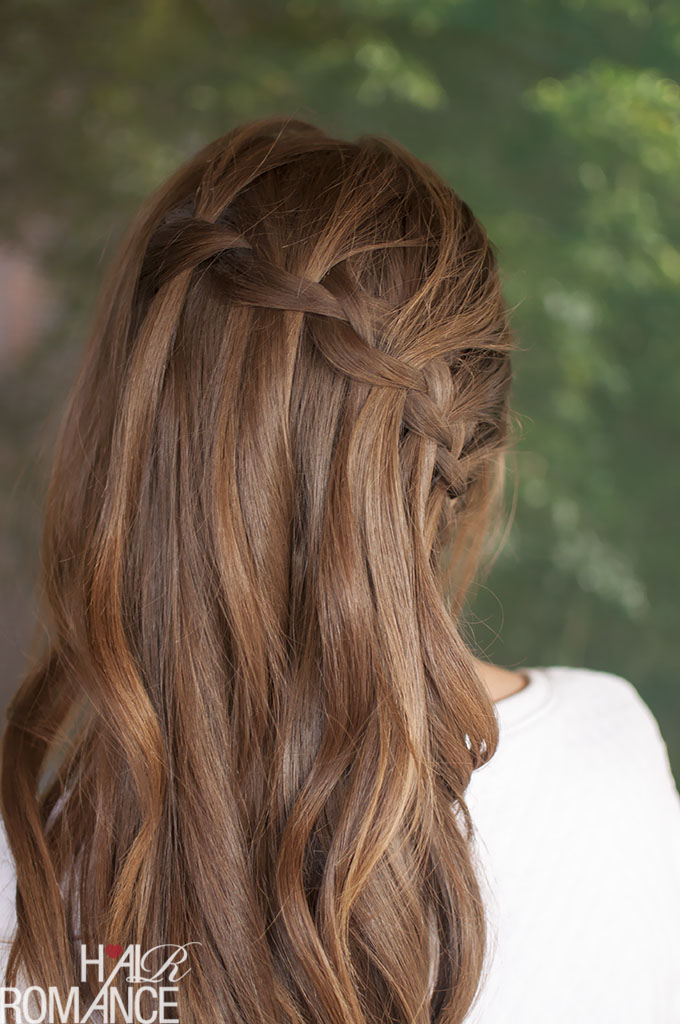 Hair Romance - Vertical waterfall braid hairstyle tutorial - click through for details