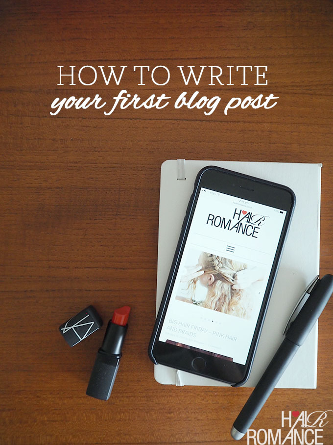 blog write your first post video