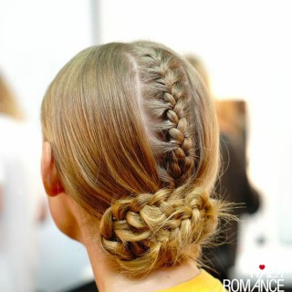 Sleek hidden braids – another fashion week style to steal