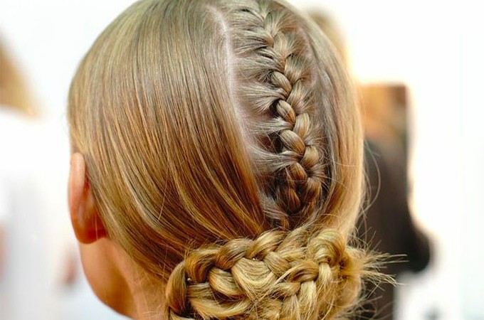 Steven Khalil - MBFWA - runway hair - sleek hidden braids