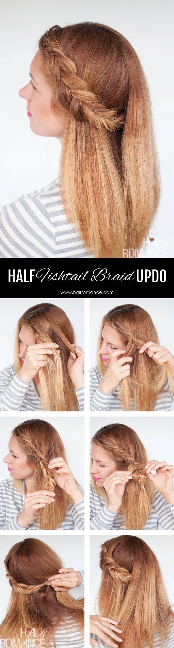Reverse fishtail braid tutorial - two ways Fishtail Braid How To
