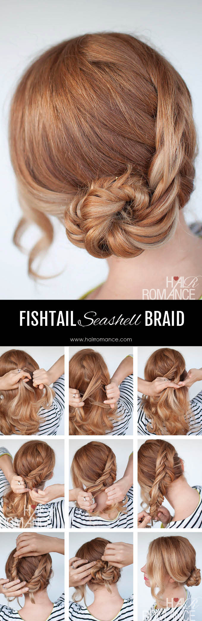 French Fishtail Seashell Braid Instructions