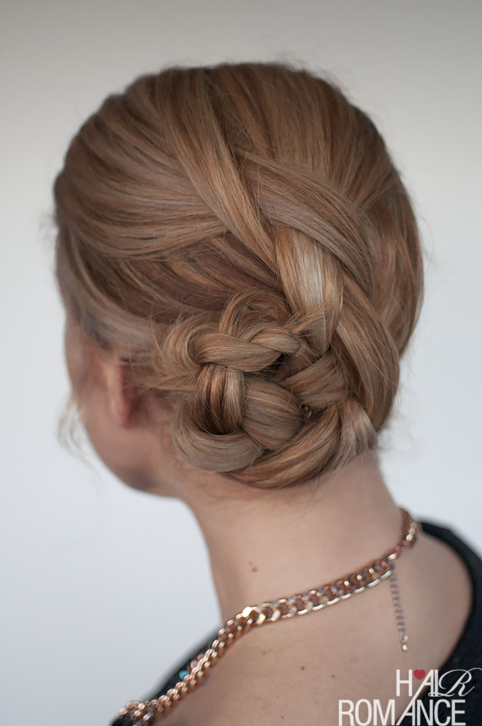 Easy braided bun hairstyle tutorial - Hair Romance