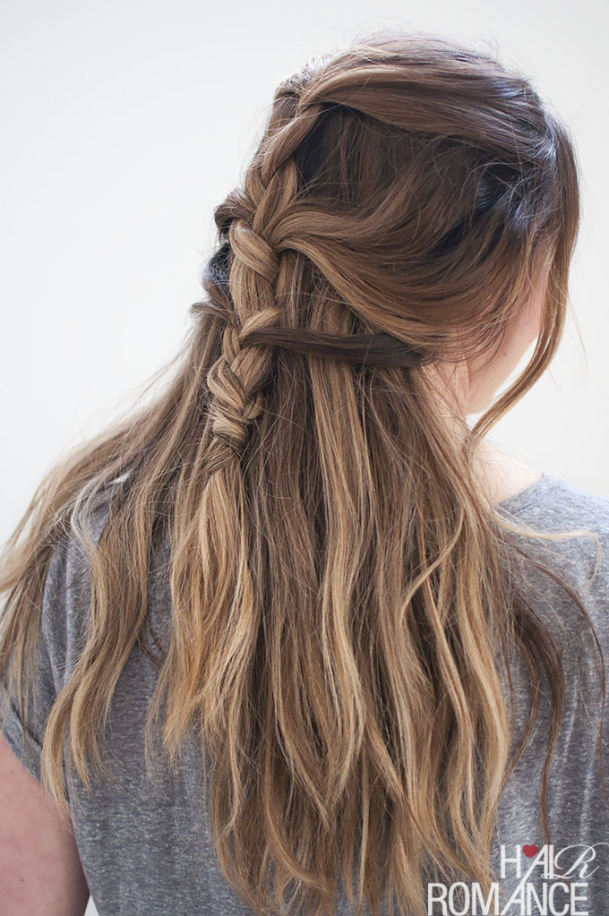 Loose French braid tutorial hair Styling