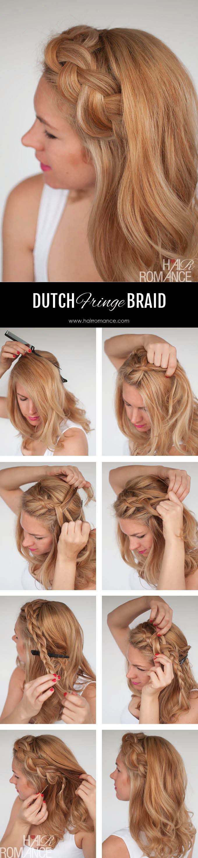 step by step fringe braid instructions step by step