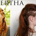 Vikings hairstyle tutorials - Lagertha's braid tutorial