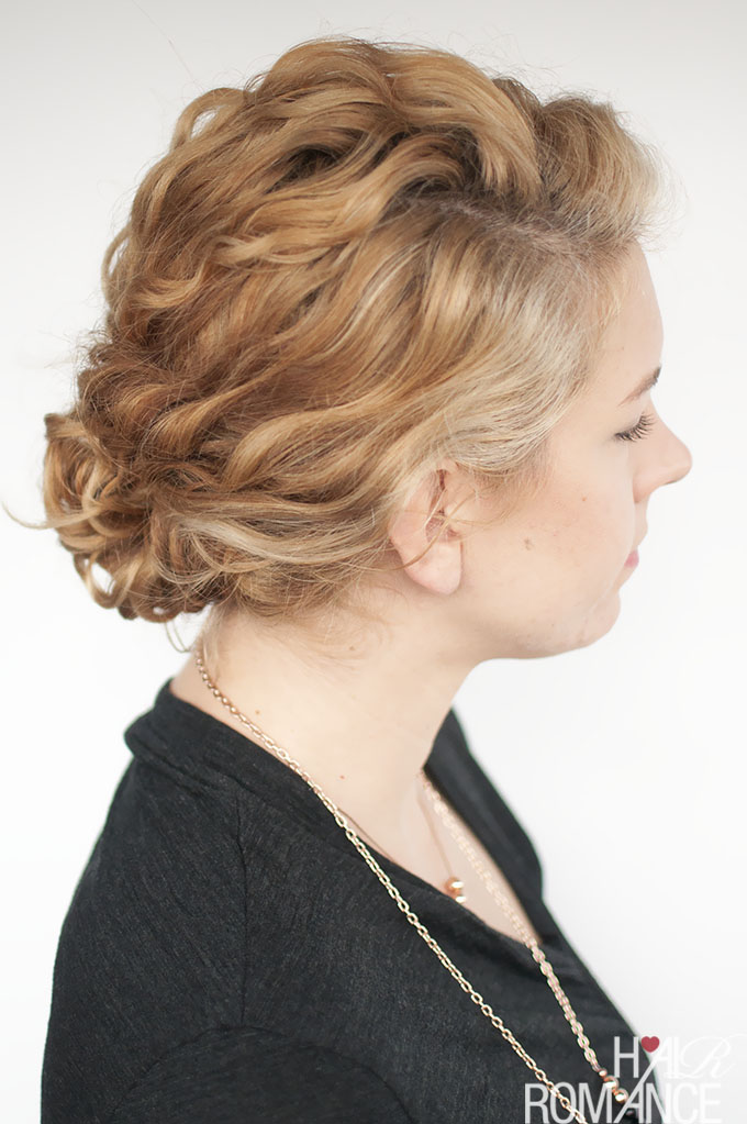 super easy updo hairstyle tutorial for curly hair hair