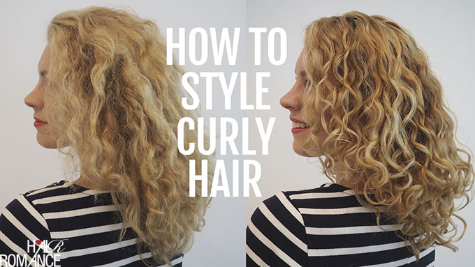 How to style curly hair for frizz free curls  Video tutorial  Hair