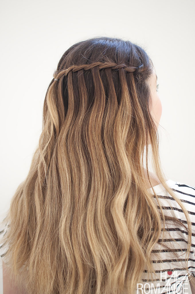 how to do a waterfall braid step by step instructions