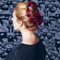 Pink, purple and orange hair