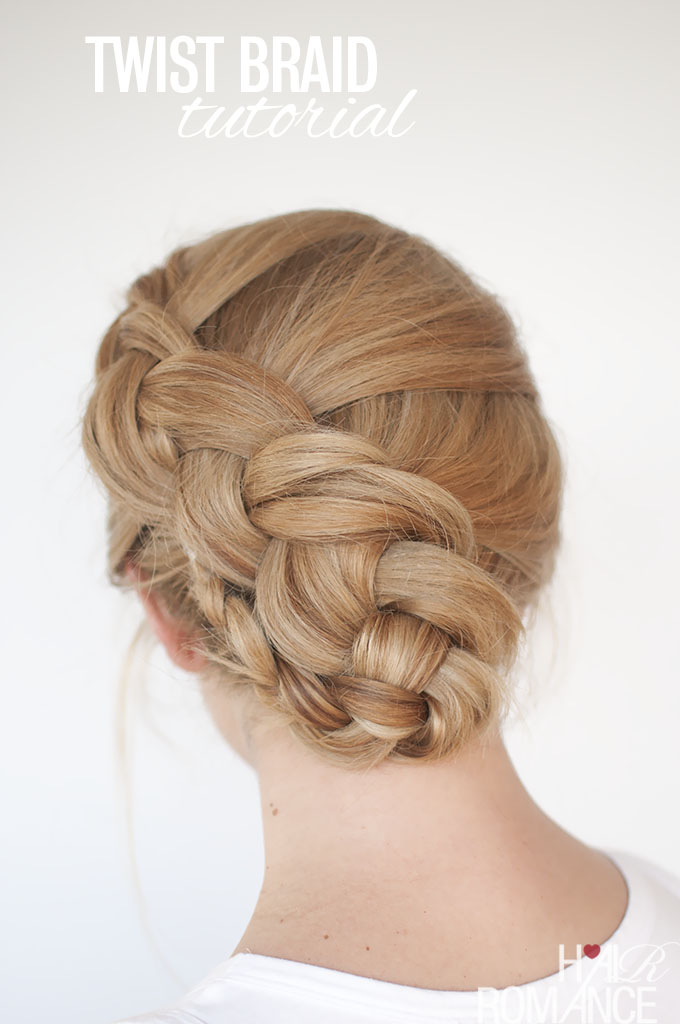 New braid hairstyle tutorial - the twist braid updo