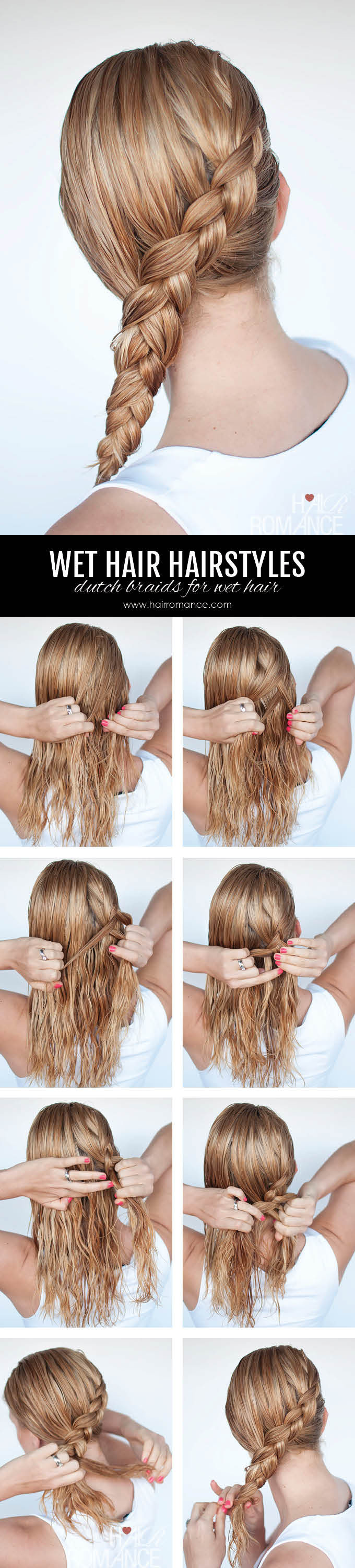 Hairstyles For Damp Hair : Hairstyles for wet hair simple braid tutorials you can