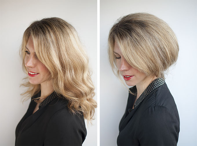 female shaved hairstyles : Faux bob hairstyle tutorial - try out short hair before the big chop ...