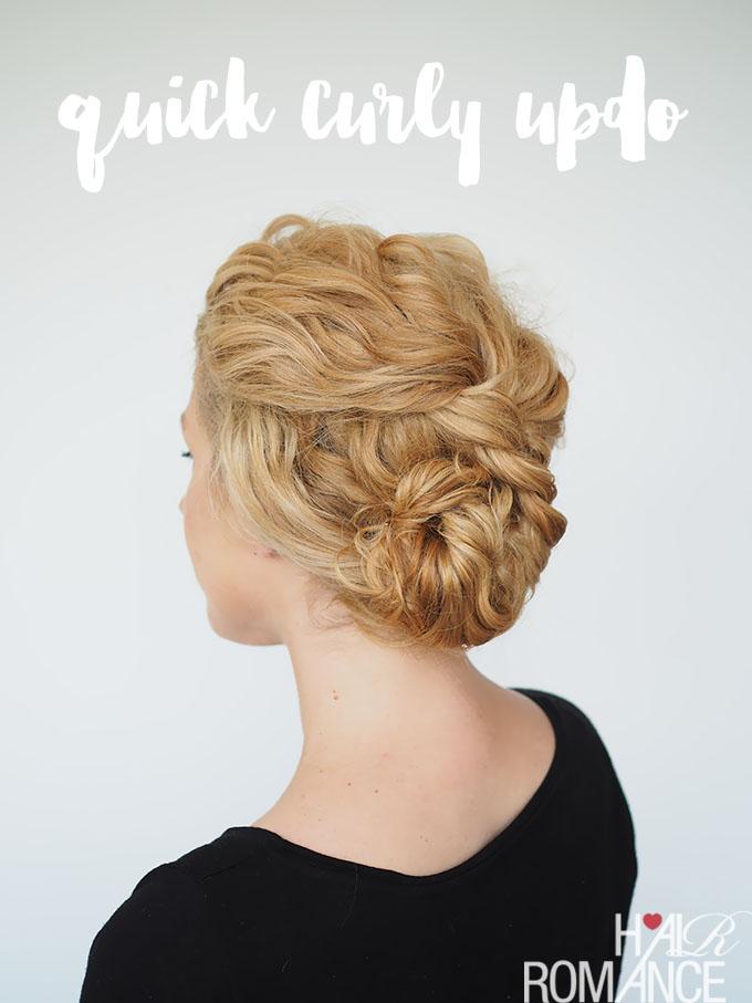 2 Min Updo For Curly Hair Hair Romance