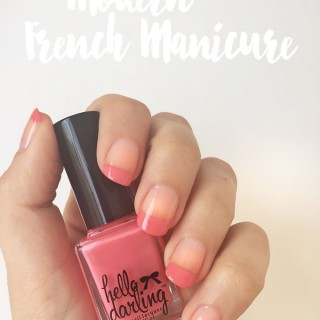 Hair Romance - the Modern French manicure tutorial