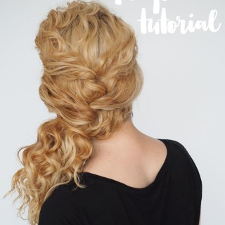 Curly hair tutorial – easy ponytail with a twist