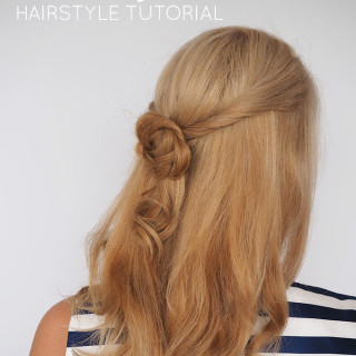 The Friendship Knot hairstyle tutorial