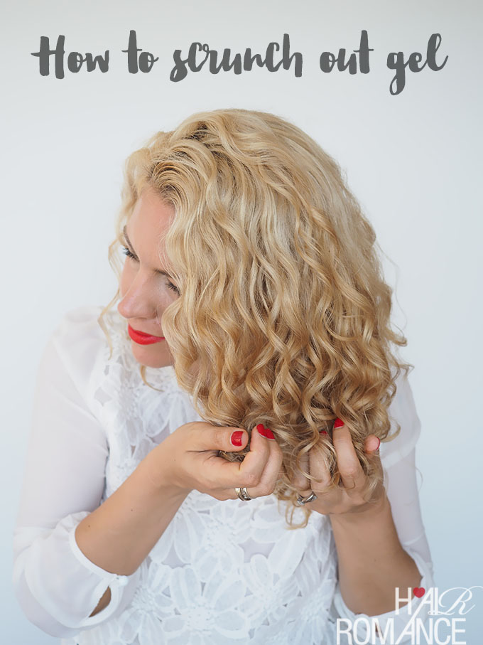 How to style curly hair with gel