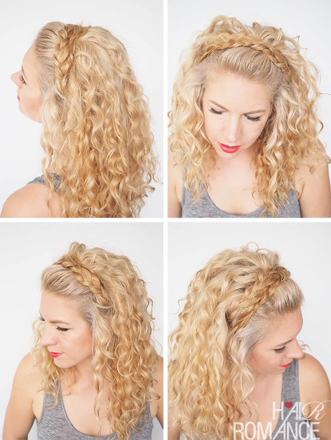 headband braid with curls - photo #32