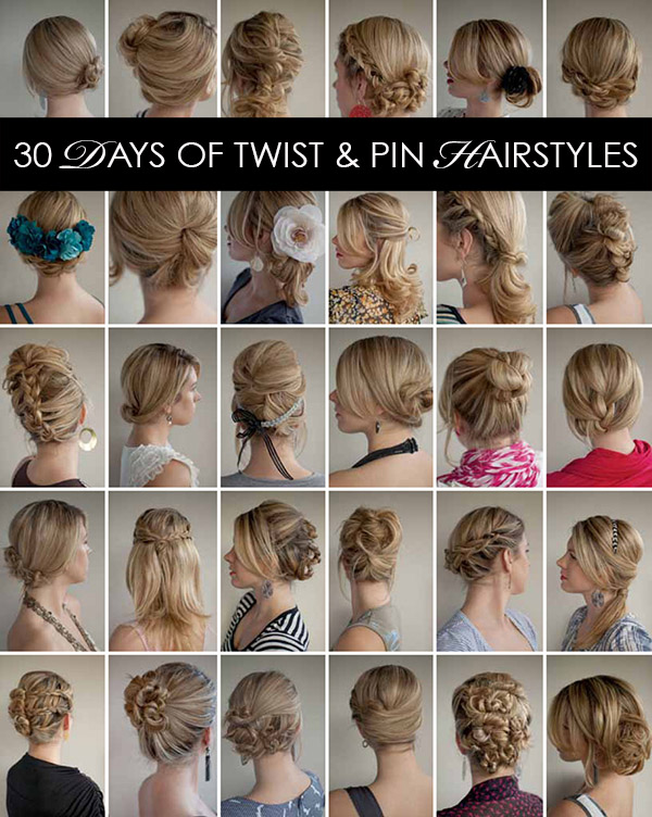 30 Days Of Twist Pin Hairstyles The Hair Romance Ebook Hair