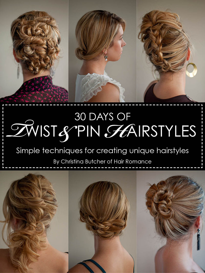 30 Days of Twist & Pin Hairstyles - The Hair Romance eBook - Hair ...