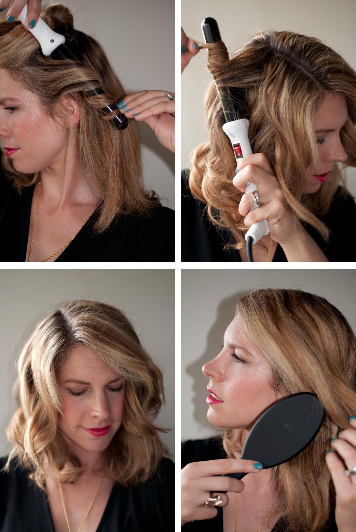 How To Get Perfect Waves With The Modiva Professional Curling Iron Hair Romance