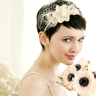 Brides with short hair – wedding hairstyle ideas