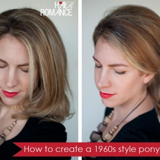 Hairstyle how to: Create a 1960s style ponytail