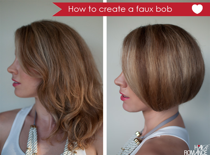 Hair Romance - How to faux bob tutorial