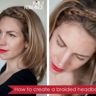 Hairstyle tutorial: Easy braided headband