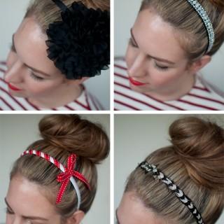 Top knots and headbands