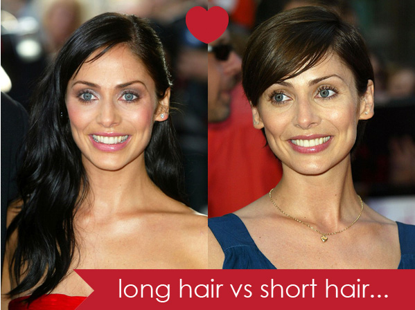 long hair vs short hair female