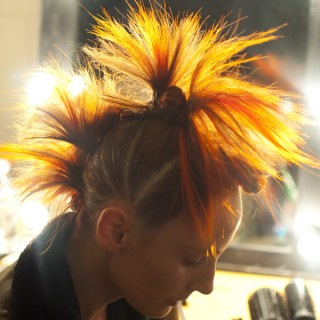 Wild flower hair by Alan White at Ginger & Smart