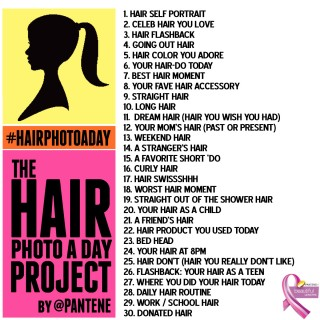 Hair Photo A Day – 21-30