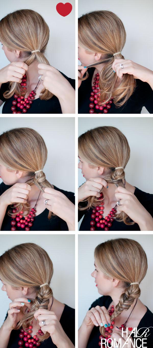 How To Fishtail Braided Bun Hairstyle Hair Romance