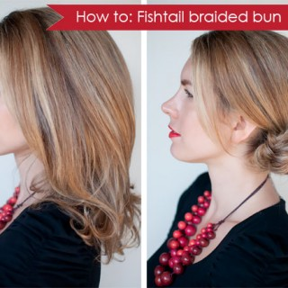 How-to: Fishtail braided bun hairstyle