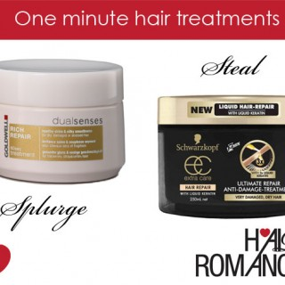 One minute hair treatments