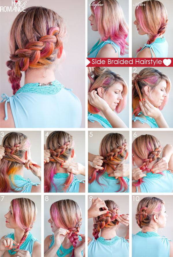 hair styles braids step by step hair how to side braided hairstyle tutorial hair 3373