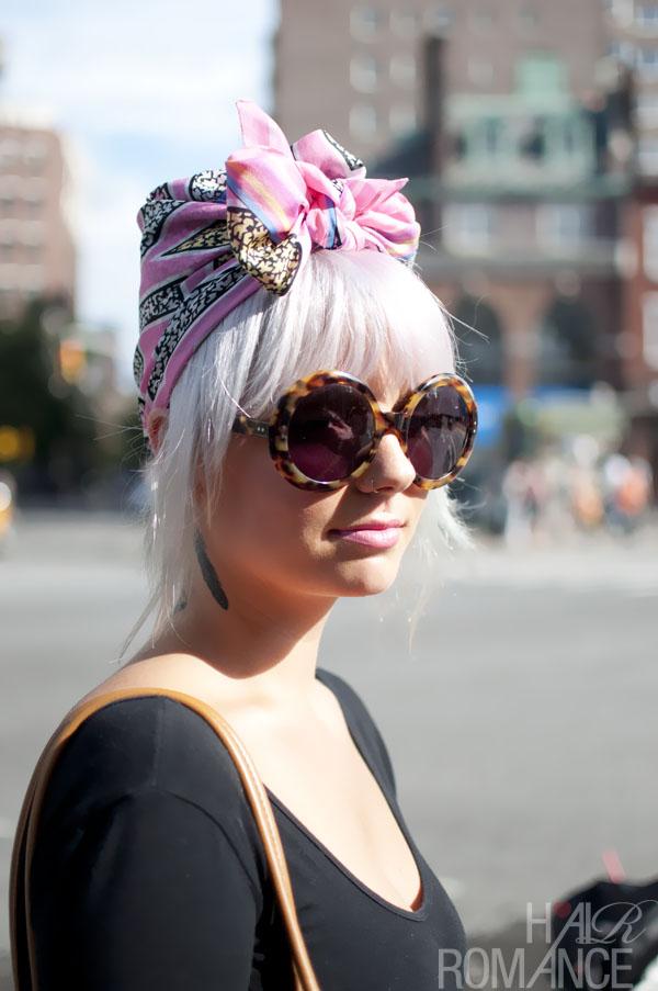 Street Style Hair Pink Scarf Turban Nyc Hair Romance