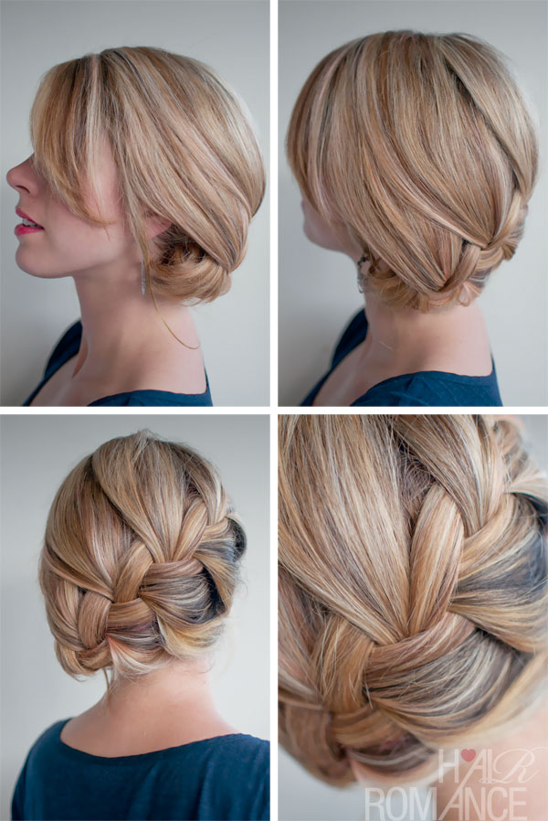 Hair Romance - 30 braids 30 days - 15 - French braid side bun